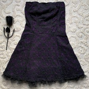Tripp Gothic Purple and Black Lace Corset Dress
